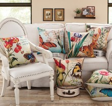 3D Classical Printing Linen Cotton Pillow cover 45x45cm