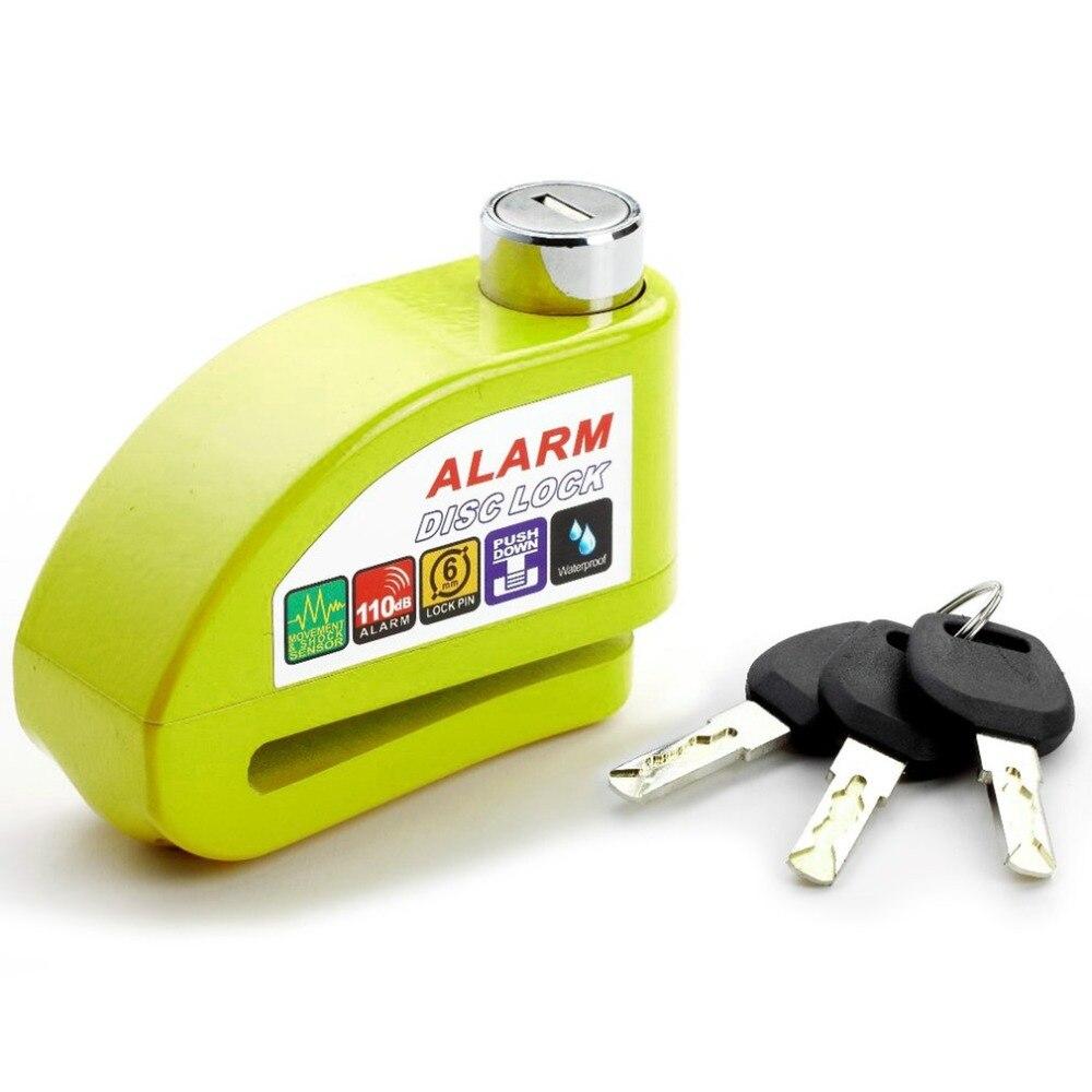 Universal Moto Motorcycle Alarm Lock Disc Lock Scooter Bicycle Disc Brake Lock Security Anti-theft Alarm Lock with 3 Keys fidloc bicycle disc brake lock set blue