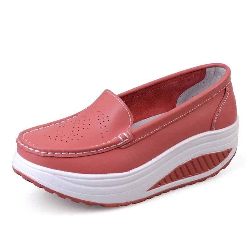 New Womens Shake Shoes Lady Genuine Leather shoes (42)