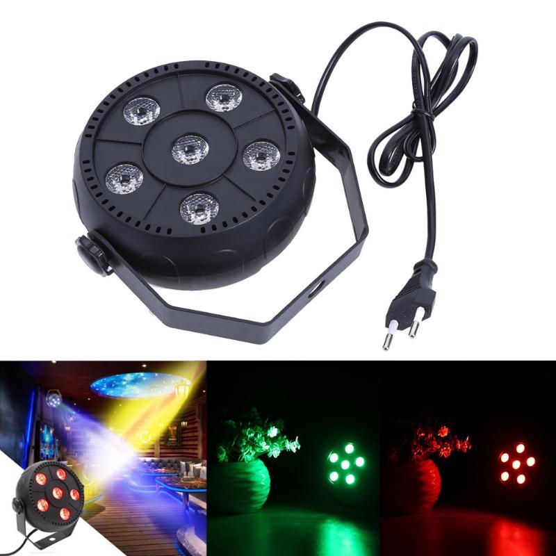1pc Mini Portable 6 RGBW LED Stage Light Effect Sound Control PAR Stage Bar KTV Wedding Light