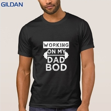 c2bf220e Funny Casual Working On My Dad Bod Funny Gym Tshirt Hip Hop Tee Shirt T  Shirt