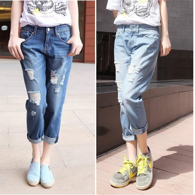 summer outfit ripped jeans