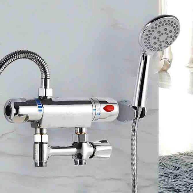 robinet mitigeur thermostatique de bain a bas prix robinet de salle de bains avec valve d alimentation d eau hh 001 vente en gros au detail