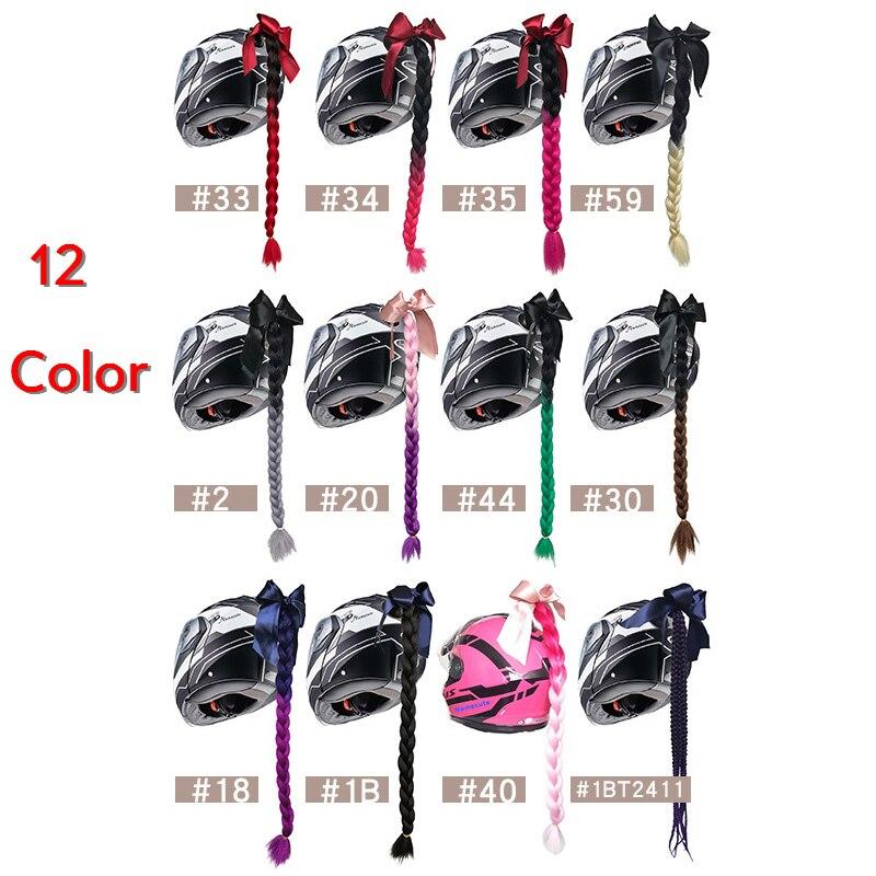 12 Color Punk Style Motorcycle Gradient Ramp Helmet Braids Twist Braid Horn Motorbike Full Face Off Road  Motorbike Helmet Braid