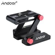 Andoer Novo Z-em forma de Prato de Liberação Rápida Da Câmera Dobrável Desktop Suporte de Inclinação Da Cabeça para Canon Nikon Sony Pentax DSLR vídeo Slider