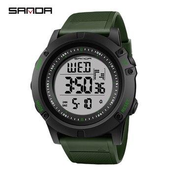 b46709c5593b SANDA deportes hombres Reloj superior de la marca de lujo de Digital de  muñeca Relojes hombres impermeable Reloj Hombre Reloj Masculino