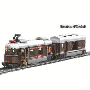 Image 5 - זוכה 5090 שוויץ קלאסי רכבת עיר טכני דגם בניין בלוקים לבני ילדי DIY צעצועים לילדים חינוכיים
