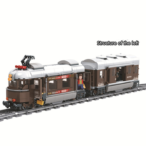 Image 5 - Winner 5090 Switzerland Classic Train City Technic Model Building Blocks Bricks Kids DIY Toys For Children Educational