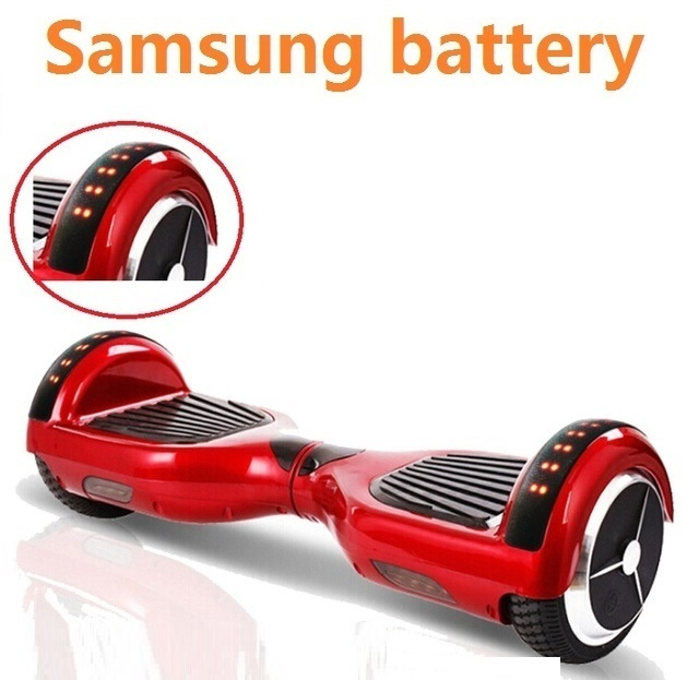все цены на Electric self balancing scooter LED lights hoverboard bluetooth 2 wheel electric standing scooter electric skateboard giroskuter онлайн