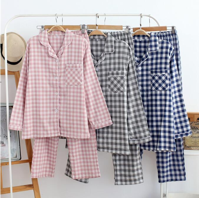 100% Cotton and Gauze Dressing gown Man&Woman House coat Husband and wife Pijama ...