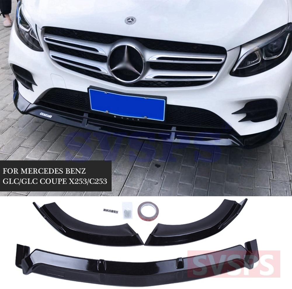 X253 Car Racing Front Lip Bumper Splitter for Mercede Benz GLC  4 Door 2014-2018