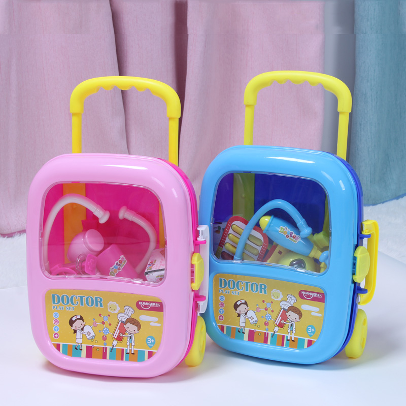 Huanger 23pcs Doctor Pretend Play Toys Luggage Juguetes for Child Medical Kid Baby Educational Box Light Role Gift Classic Toys