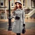 Dabuwawa invierno mantener caliente abrigo de lana gris