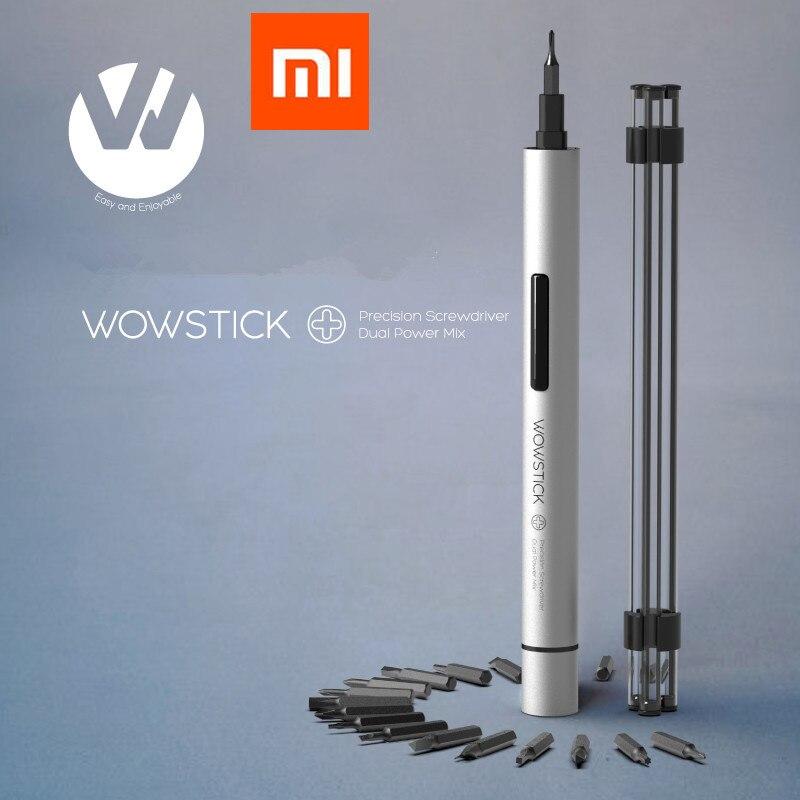 Xiao mi jia wowstick 1 p + 19 em 1 driver de parafuso elétrico sem fio trabalho de energia com mi casa inteligente kit todos os produtos