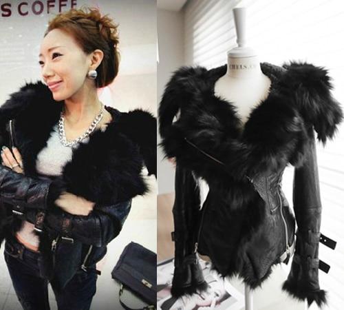 Hot Luxury Genuine Fox Fur Soft Pu Leather Patchwork
