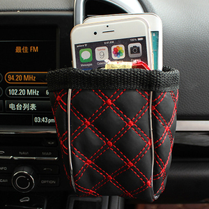 Image 5 - Car Outlet Air Vent Clip Trash Box Phone Holder Organizer Auto Sun Glasses Holder Storage Box for BMW Car Accessories Styling