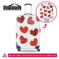 Marca Elástico Viagem Bagagem Tampas de Proteção 3D Heart-shaped Graffiti Imprimir Para 18-30 Polegada de Viagem Mala de Viagem acessórios