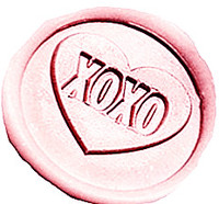 Vintage XOXO Love Heart Custom Picture Logo Wedding Invitation Wax Seal Sealing Stamp Sticks Spoon Gift