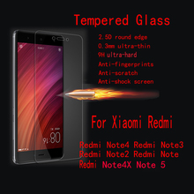 5 шт./лот FENGHEMEI закаленное Стекло протектор для Xiaomi Redmi Note 2 Note 3 Note 4 4X Note5 5A Prime Note 5 Pro Примечание 6 Pro