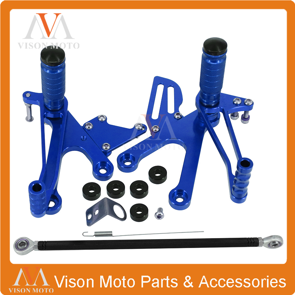 Motorcycle Aluminum CNC Adjustable Footpegs Foot Pegs Footrest Foot Rest For HONDA NSR250  PGM2 PGM3 PGM4 MC28 1994-2015