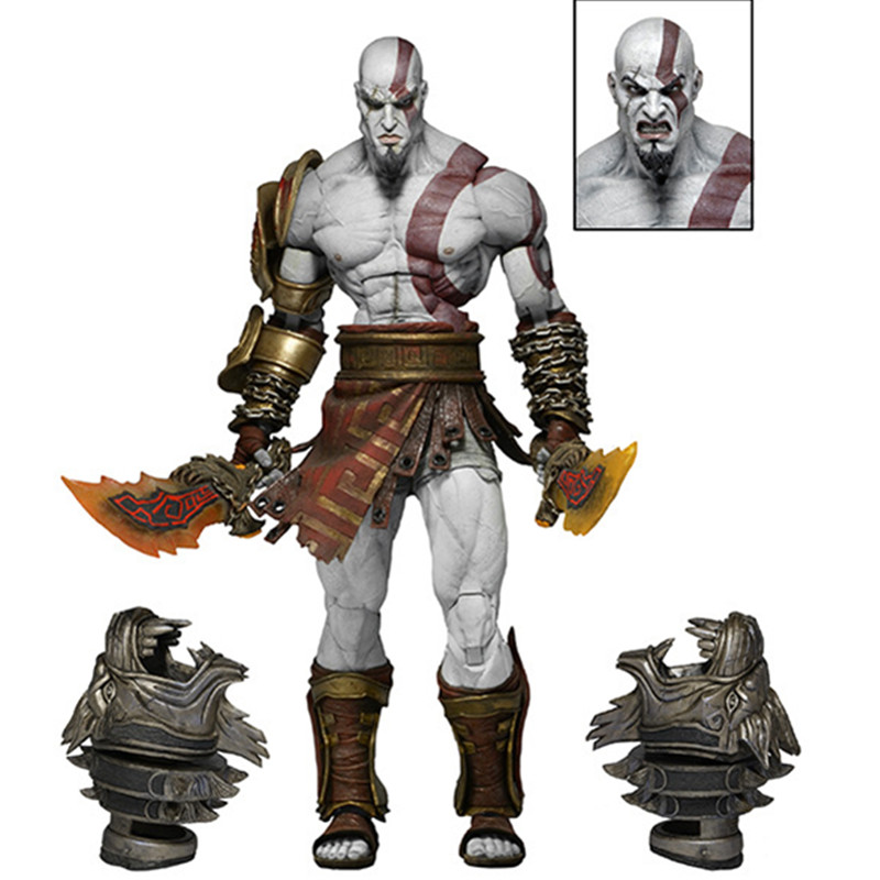 Kratos Toy GOD OF WAR 3 Game Heros Kratos Ghost Of Sparta Action Figures Collectible Model Toy 18cm PVC Doll Creative Gift L348