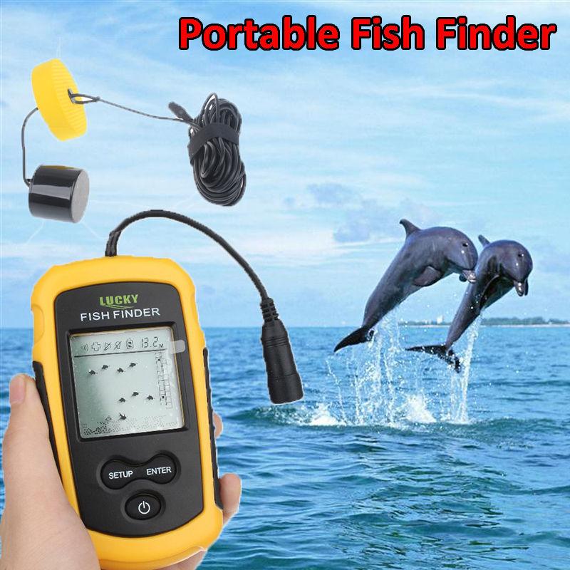 ФОТО Free Shipping! Lucky FF1108-1 Portable Fish Finder Depth Sonar Sounder Alarm Sea Lake Fishing
