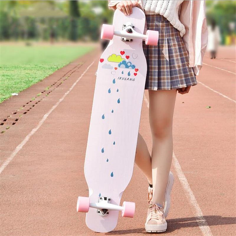 4 ruedas de arce completa Skate bailando Longboard cubierta cuesta abajo deriva carretera calle Skate tabla Tabla para jóvenes adultos - 2