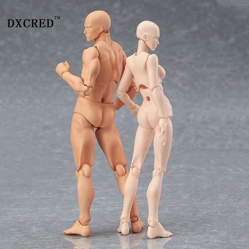 Male Female Movable body joint Action Figure Toys artist Art painting Anime model doll Mannequin Art Sketch Draw Human body doll new 2pcs female right left vivid foot mannequin jewerly display model art sketch