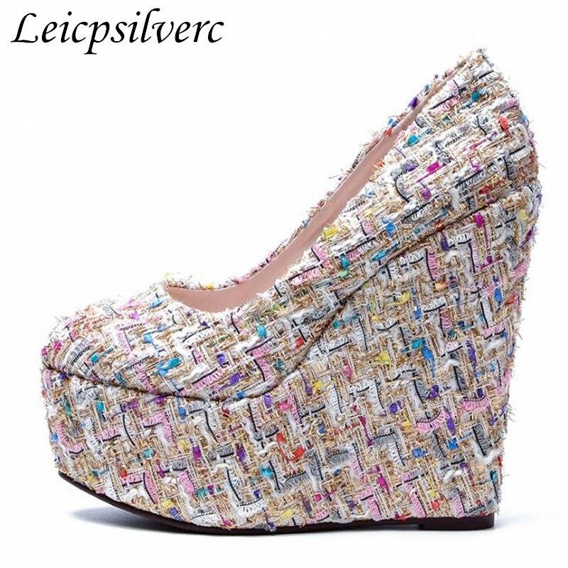 Mètres De forme Petite Chaussures Nouvelle Femmes Haute 2 Taille 43 1 Grande 15 Talon 5 Cm Unique Étanche Plate Grandes 34 pente wBvTg