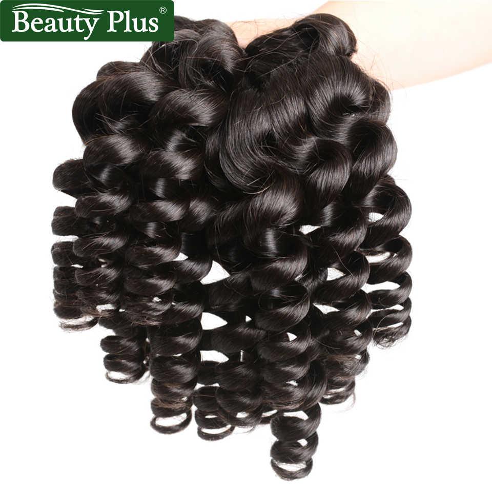 Funmi Lockige Bundles Mit Verschluss Engen Spirale Wellung Remy Haar Extensions Schönheit Plus Brasilianisches Lockiges Haar Bundles Mit Verschluss
