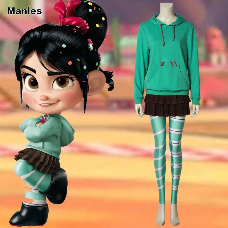 Cosplay Leggings Wreck-It Ralph 2 Vanellope von Stockings Halloween Costume