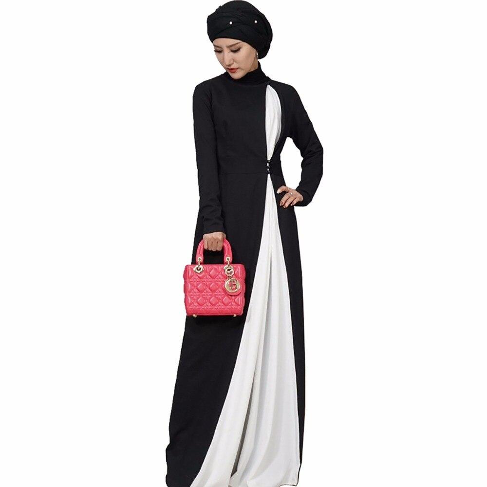 Elegant Modest Muslim Islamic Clothing Full Length Cotton Double-breasted Long Lantern Sleeve Kaftan Ramadan Abaya Dress Activity & Gear Mother & Kids