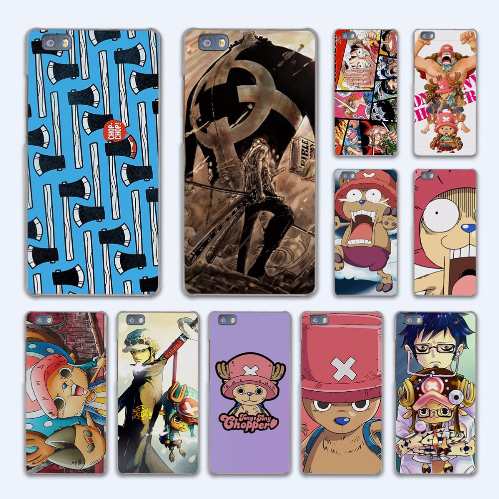 anime One Piece luffy Law Chopper design hard transparent Case Cover for Huawei P10 P8 P9 lite P7 Mate 7 8 Mate9 Mate S