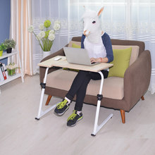 Portable Mobile Laptop Standing Desk For Bed Sofa Laptop Office Adjustable Folding Laptop Notebook Table Computer Desk Mouse Pad(China)