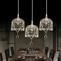 אופנה נקה/אפור/אמבר K9 קריסטל תליון אור קבועה עשה זאת בעצמך הבית דקו סלון צלחת זכוכית E14 LED תליון מנורת הנורה