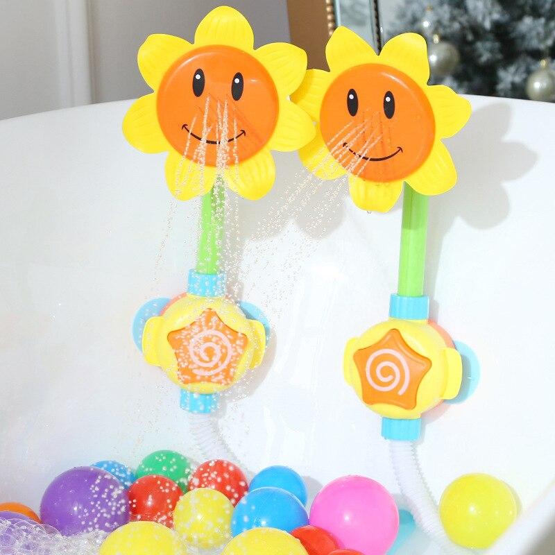 Bébé bain jouet baignoire tournesol douche robinet pulvérisation eau natation salle de bain bain jouets pour enfants drôle jeu d'eau