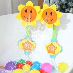 Wanienka do kąpieli zabawka do kąpieli słonecznik prysznic kran Spray woda pływanie łazienka z wanną zabawki dla dzieci zabawny zestaw do zabawy w wodzie