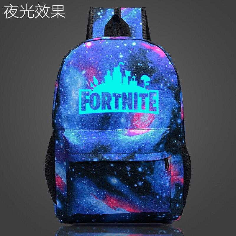 Fashion Fortnite Women Backpack Night Luminous Bag School Bag for Teen girl and boys Shoulder Travel Backpacks Purse