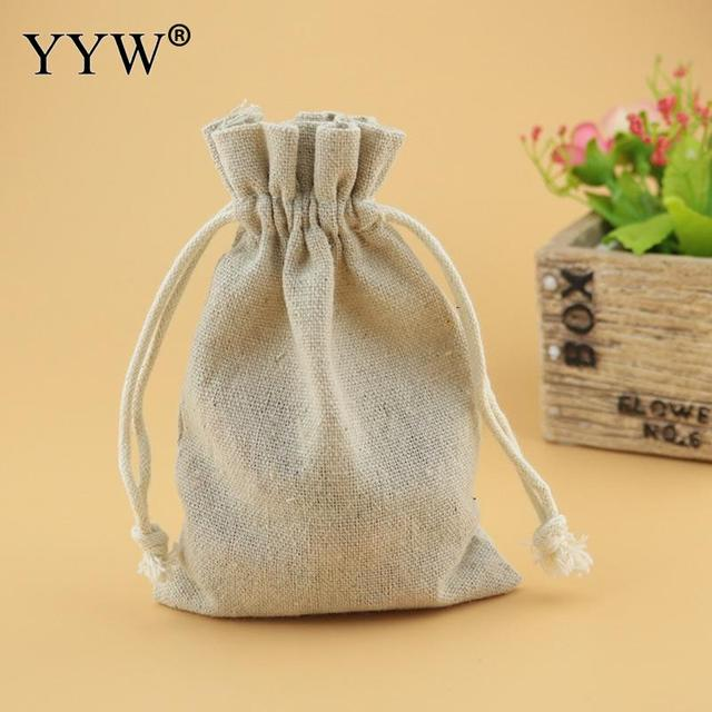 50Pcs 10x14cm Linen Pouch Jewelry Storage Bag Christmas Wedding Gift Bag Drawstring Packaging Jewelry Pouches Sack
