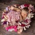 40*60 cm Tramo Envuelve Para Mantas Recién Nacido Foto Atrezzo Ganchillo Hecho A Mano Newborn Fotografía Atrezzo Bebé Regalo de la Ducha de fotografia