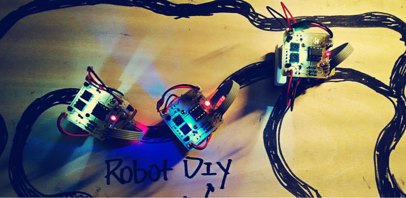 electronic diy kit Electronic assembly kits micro mini robot diy kits Line Following car line follower ROBOT DIY beadia dy09 diy