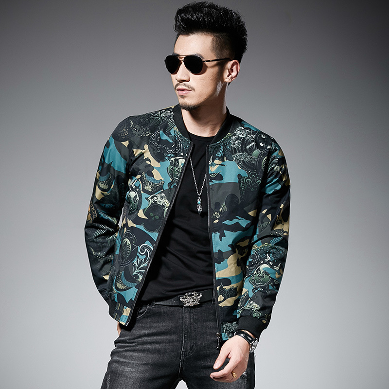 Grünen Druck Jacke Männer Campera De Hombre Jaqueta Masculina Motoqueiro Vintage Windjacke Jacken 2018 Herren Herbst Jacke 5xl
