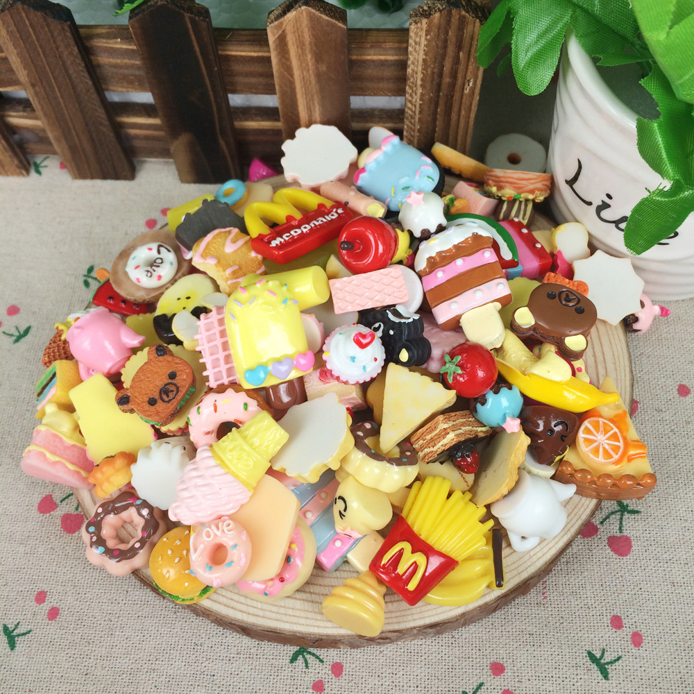 Pizza Artificial Food Button Cabochons 5 PCS DIY Photo Album Decoration