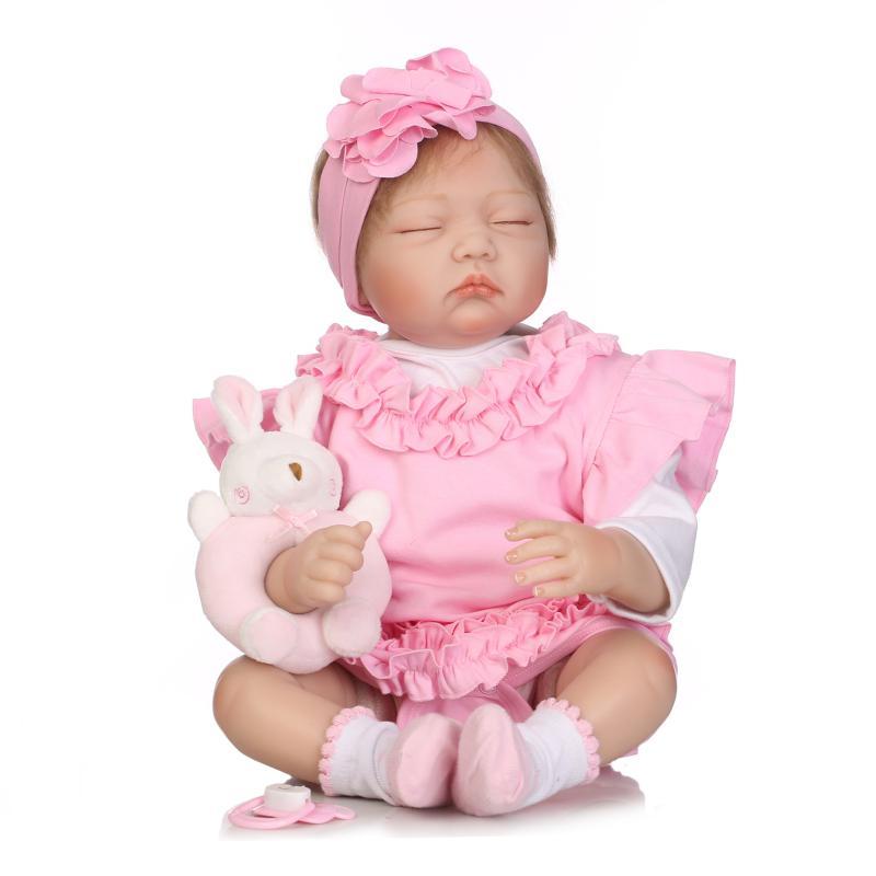 Nouveau 55 cm silicone reborn poupées bébés réel sommeil reborn bébé bonecas enfants jouets brinquedos
