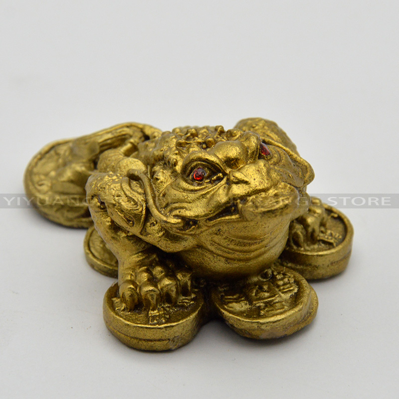 fengshui chinese money frog copper toad coins gold lucky home decoration apotropaic brass furnishing articles decor - Home Decor Articles