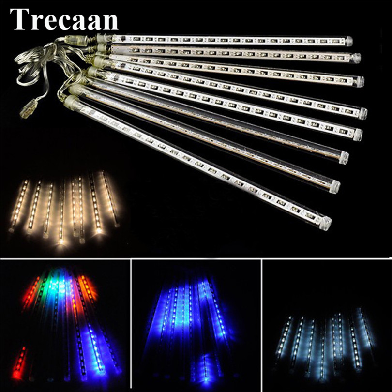 Trecaan 30CM LED hollow patch meteor shower tube Christmas outdoor landscape trees waterproof decorative lights