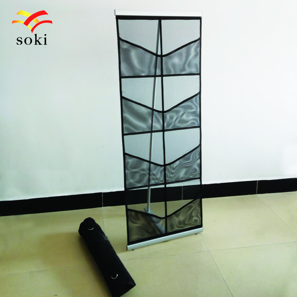 A4 Portable Aluminum Brochure Stand With Oxford Bag Exhibition Advertising Catalogue Holder Magazine Display Rack In Flags