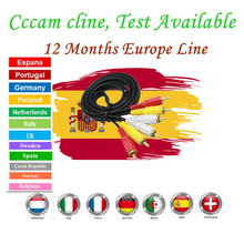 1 год 7 линия Европа Cccams линии Сервер Поддержка DVBS IKS рецептор Satelite приемник для Европы Cccam Cline с Испании Италия DE