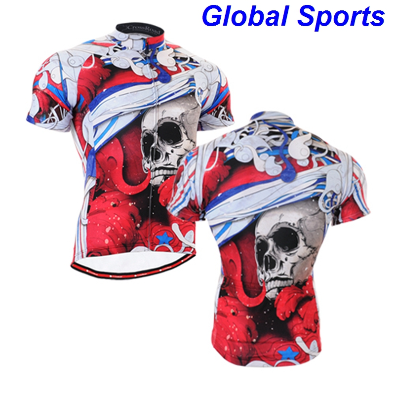 2017 Professional Cycling Team Clothing Red Short Sleeve T