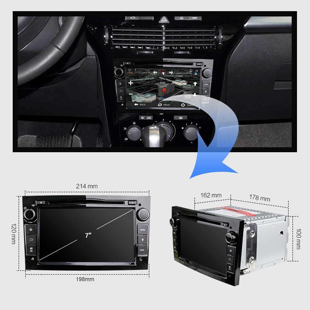 Eunavi Quad Core Android 9.0 2 DIN Mobil DVD Stereo untuk Vauxhall Opel Astra H G Vectra Antara Zafira Corsa gps Navi Radio 2G